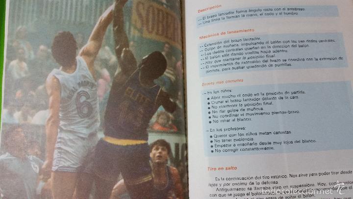 Coleccionismo deportivo: Baloncesto Básico por Santos Vázquez Rabaz edita Alhambra año 1988 auténtica rareza - Foto 3 - 56746402