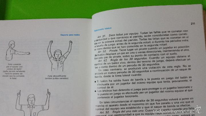 Coleccionismo deportivo: Baloncesto Básico por Santos Vázquez Rabaz edita Alhambra año 1988 auténtica rareza - Foto 8 - 56746402