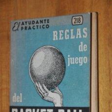 Coleccionismo deportivo: REGLAS DE JUEGO DEL BASKET BALL, EDITORIAL COSMOPOLITA, EL AYUDANTE PRACTICO, BALONCESTO. Lote 57686573