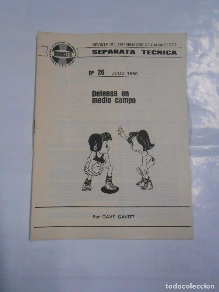 SEPARATA TECNICA REVISTA DEL ENTRENADOR DE BALONCESTO. 26. DEFENSA EN MEDIO CAMPO. DAVE GAVITT TDKP9 (Coleccionismo Deportivo - Libros de Baloncesto)