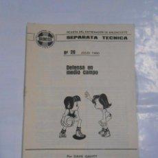 Coleccionismo deportivo: SEPARATA TECNICA REVISTA DEL ENTRENADOR DE BALONCESTO. 26. DEFENSA EN MEDIO CAMPO. DAVE GAVITT TDKP9. Lote 71958871