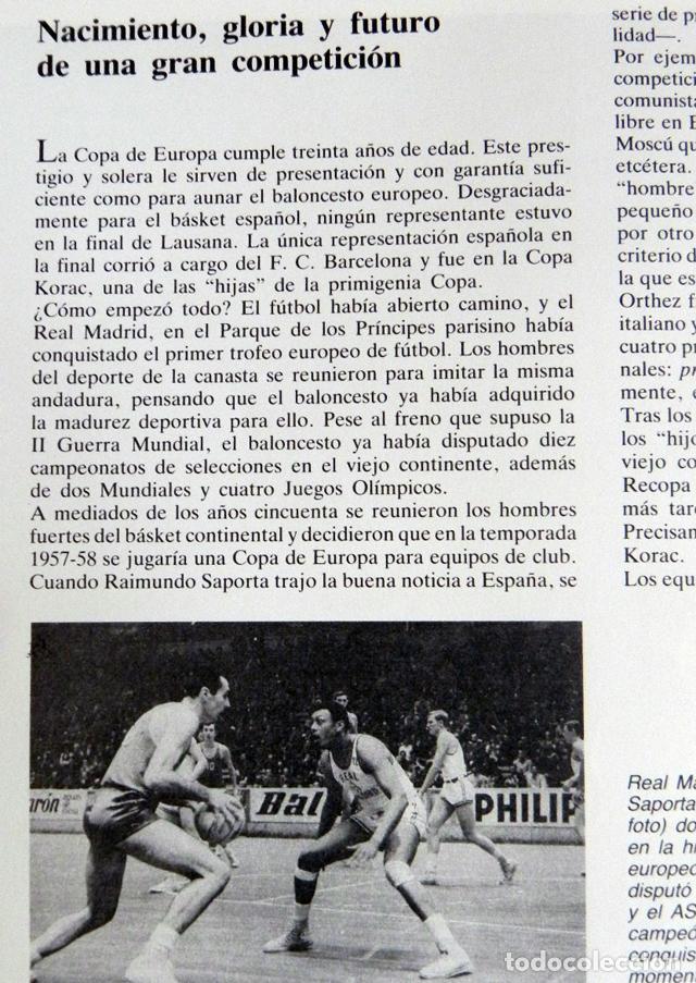 Coleccionismo deportivo: BALONCESTO ESPAÑOL LIBRO DEL AÑO 87 - FEDERACIÓN ESPAÑOLA 1987 ESPAÑA DEPORTE ROMAY EPI ITURRIAGA DE - Foto 14 - 74684955