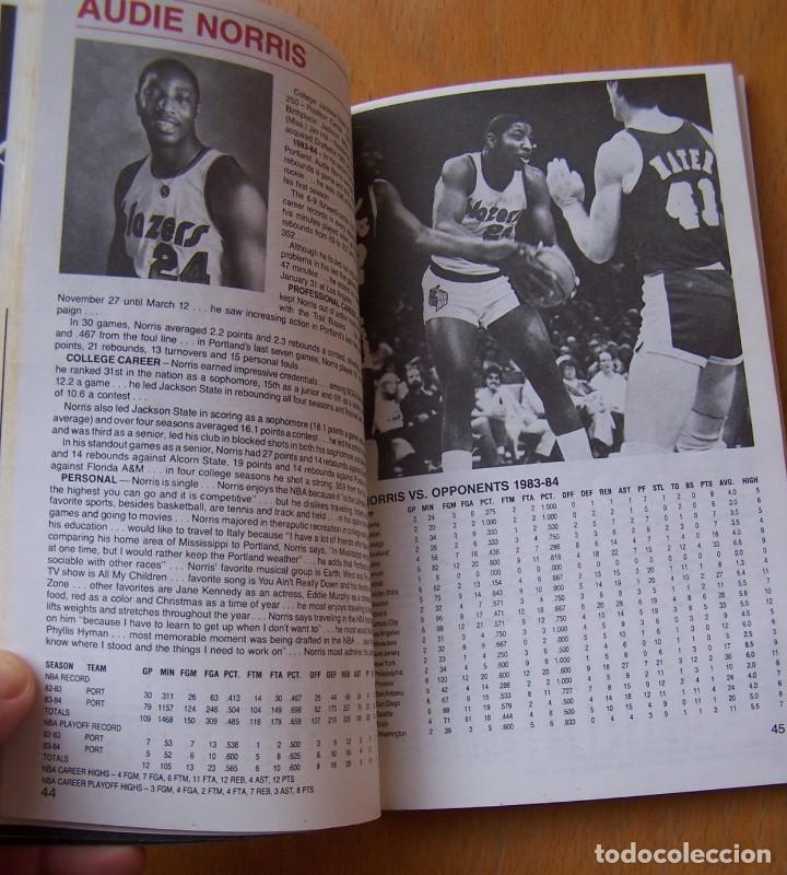 Coleccionismo deportivo: Portland Trail Blazers 1984-85 Baloncesto NBA Guía Anuario. Kiki Vandeweghe, Drexler, Norris - Foto 3 - 82169304