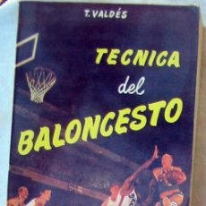 Coleccionismo deportivo: TECNICA DEL BALONCESTO - TITO VALDÉS - ED. SINTES 1974 - VER INDICE. Lote 83594916