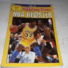Coleccionismo deportivo: REGITRO DE ESTADISTICAS OFICIAL NBA 1991-92 BUEN ESTADO DIFICIL INGLES. Lote 84499256