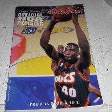 Coleccionismo deportivo: REGITRO DE ESTADISTICAS OFICIAL NBA 1996-97 BUEN ESTADO DIFICIL INGLES. Lote 84499420