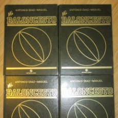 Coleccionismo deportivo: MI BALONCESTO ANTONIO DIAZ MIGUEL 4 TOMOS COMPLETA ENCUADERNADA EDITORIAL SOMA 1985 FERNANDO MARTIN. Lote 90931015