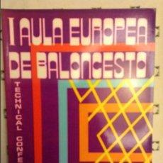 Coleccionismo deportivo: I AULA EUROPEA DE BALONCESTO - FEDERACION ESPAÑOLA DE BALONCESTO - CADIZ 17 AL 21 JUNIO 1985. Lote 91679945