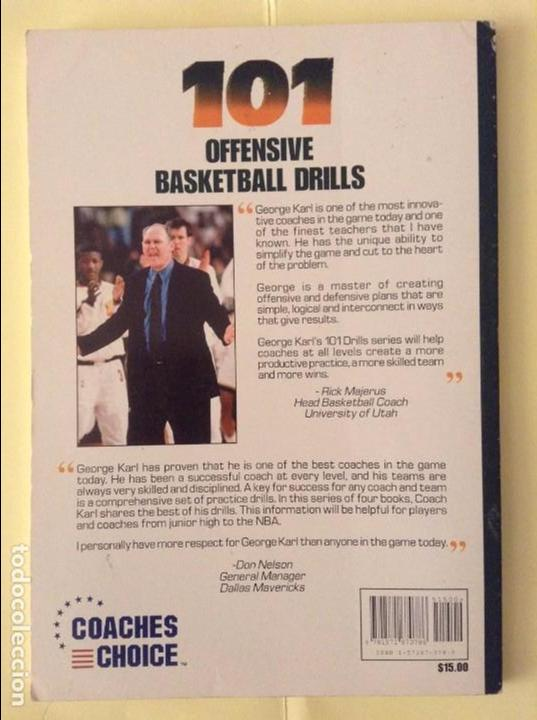 Coleccionismo deportivo: 101 OFFENSIVE BASKETBALL DRILLS (GEORGE KARL, TERRY STOTTS AND PRICE JOHNSON) - Foto 2 - 91720665