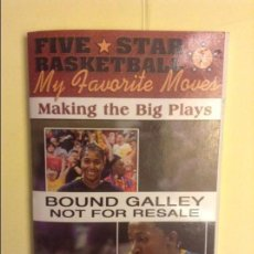 Coleccionismo deportivo: FIVE-STAR BASKETBALL PRESENTS MY FAVOURITE MOVES: MAKING THE BIG PLAYS. Lote 91754240