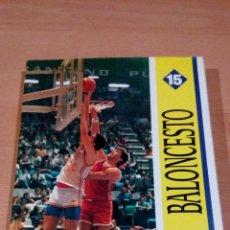 Coleccionismo deportivo: BALONCESTO - COMITE OLIMPICO ESPAÑOL - COLECCION DEPORTES OLIMPICOS -15 - BUEN ESTADO. Lote 95141119