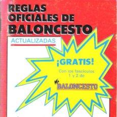 Coleccionismo deportivo: REGLAS OFICIALES DE BALONCESTO.. Lote 95267023
