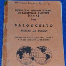 Coleccionismo deportivo: BALONCESTO - REGFLAS DE JUEGO - FIBA (1960). Lote 95380063