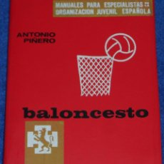 Coleccionismo deportivo: BALONCESTO - MANUAL PARA ESPECIALISTAS DE LA ORGANIZACIÓN JUVENIL ESPAÑOLA - ANTONIO PIÑERO (1966). Lote 95380139
