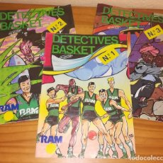 Coleccionismo deportivo: DETECTIVES BASKET, LOTE 3 COMICS RAM CLUB JOVENTUT BADALONA BALONCESTO.. Lote 97423759