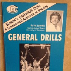 Coleccionismo deportivo: GENERAL DRILLS - PAT SUMMITT - UNIVERSITY OF TENNESSEE. Lote 98816419