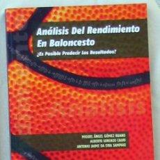 Coleccionismo deportivo: ANÁLISIS DEL RENDIMIENTO EN BALONCESTO - ¿ES POSIBLE PREDECIR LOS RESULTADOS? - 2009 - VER INDICE. Lote 99169883
