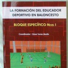 Coleccionismo deportivo: LA FORMACIÓN DEL EDUCADOR DEPORTIVO EN BALONCESTO - BLOQUE ESPECÍFICO NIVEL I - 2006 - VER INDICE. Lote 99171235