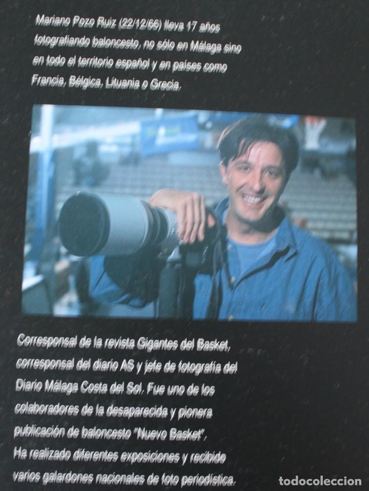Coleccionismo deportivo: 17 AÑOS BAJO EL ARO (1983 -2000) LIBRO FOTÓGRAFO MALAGUEÑO MARIANO POZO – UNICAJA MALAGA BALONCESTO - Foto 2 - 100868299