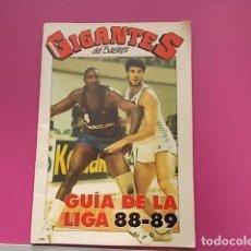 Coleccionismo deportivo: GIGANTES DEL BASKET/ GUIA DE LA LIGA 88/89 PORTADA FERNANDO MARTIN . Lote 103911963