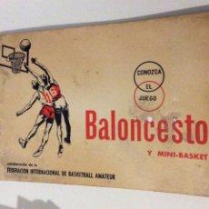 Coleccionismo deportivo: BALONCESTO Y MINI BASKET CONOZCA EL JUEGO EDITORIAL SCIENTIA FEDERACION INT BASKETBALL AMATEUR. Lote 104180943