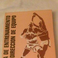 Coleccionismo deportivo: BALONCESTO. TECNICA DE ENTRENAMIENTO Y DIRECCION DE EQUIPO. MADRID 1977. Lote 105120251