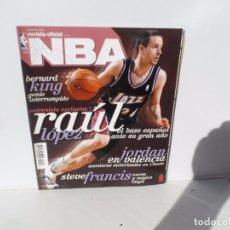 Coleccionismo deportivo: NBA REVISTA OFICIAL DICIEMBRE 2004- RAUL LOPEZ . BERNARD KING - JORDAN EN VALENCIA , STEVE FRANCIS. Lote 105794947