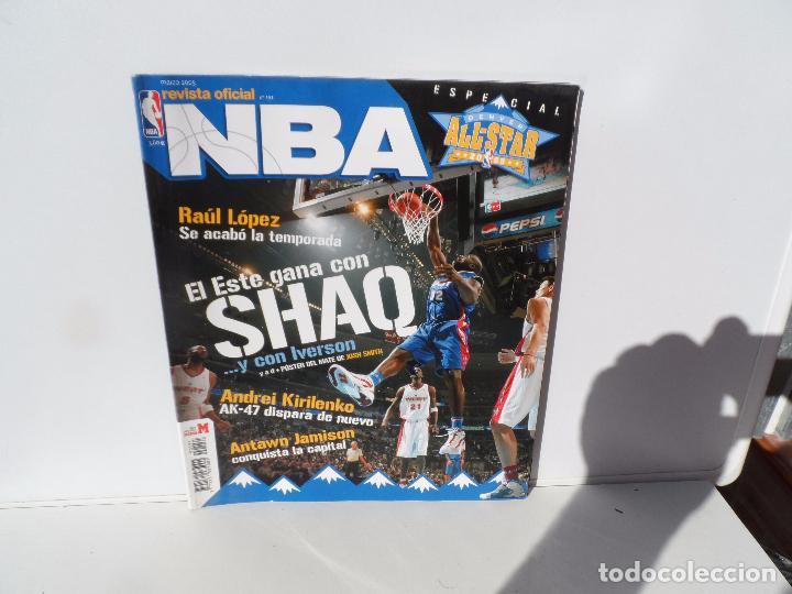NBA REVISTA OFICIAL MARZO 2005- RAUL LOPEZ , KRILENKO , ANTAWN JAMISON , SHAQ - IVERSON (Coleccionismo Deportivo - Libros de Baloncesto)