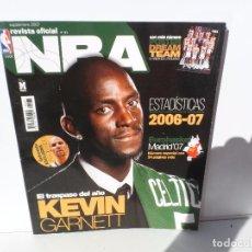 Coleccionismo deportivo: NBA REVISTA OFICIAL SEPTIEMBRE 2007 - KEVIN GARNETT - ESTADISITICAS 2006-2007 -POSTER 15 AÑOS DE DRE. Lote 105833639