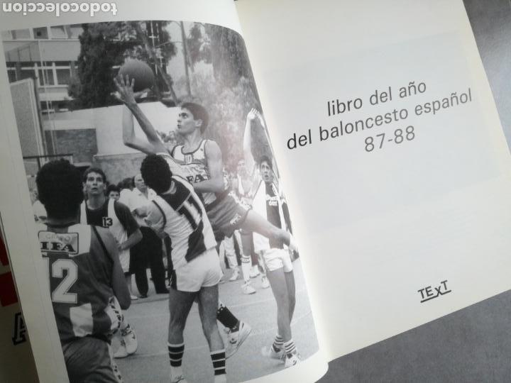 Coleccionismo deportivo: BALONCESTO ESPAÑOL 88 - LIBRO DEL AÑO, TEMPORADA 1987-1988 - Foto 2 - 107655583