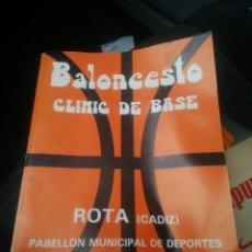 Coleccionismo deportivo: LIBRO BALONCESTO CLINIC DE BASE. Lote 178733735