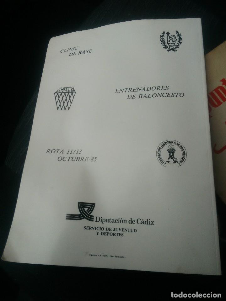 Coleccionismo deportivo: libro baloncesto clinic de base - Foto 3 - 178733735
