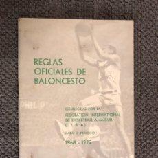 Coleccionismo deportivo: REGLAS OFICIALES DE BALONCESTO (A.1965). Lote 111291998