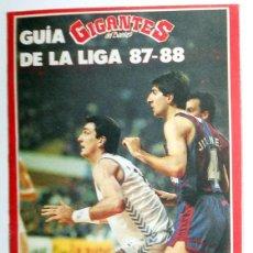 Coleccionismo deportivo: GUIA DE LA LIGA.GIGANTES DEL BASKET Nº100 - LIGA ACB 87/88 - BALONCESTO BASKETBALL - ANTIGUO. Lote 112878631