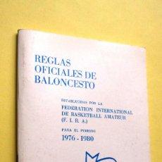 Coleccionismo deportivo: REGLAS DE BALONCESTO, REGLAMENTO, 1976 - 1980. F.I.B.A.. Lote 114062855