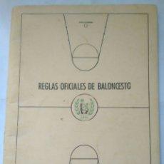 Coleccionismo deportivo: REGLAS OFICIALES BALONCESTO 1972-1976 FEDERACION ESPAÑOLA. Lote 119075932