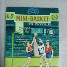 Coleccionismo deportivo: MINI BASKET REGLAS OFICIALES. Lote 120467115