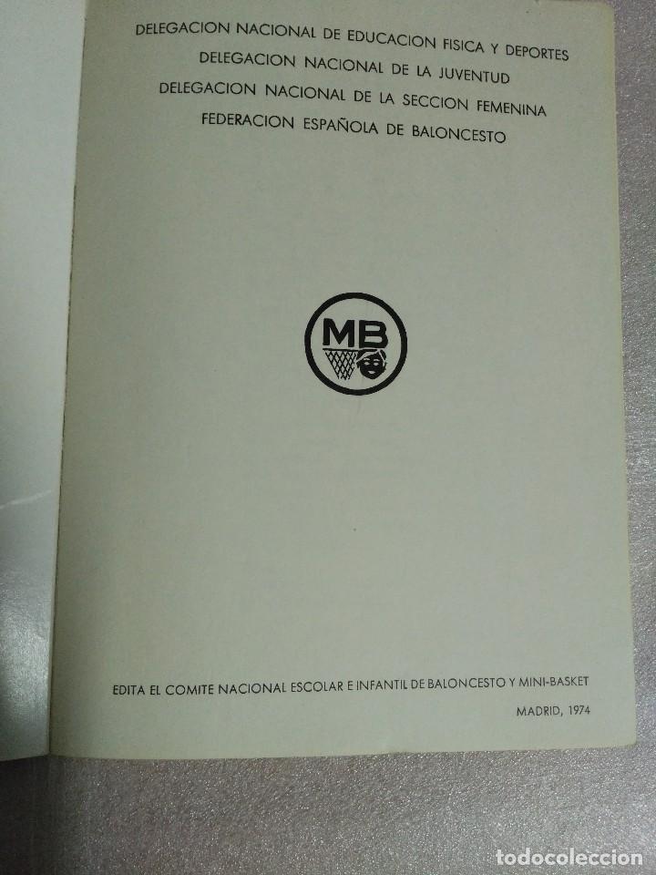 Coleccionismo deportivo: MINI BASKET REGLAS OFICIALES - Foto 3 - 120467115