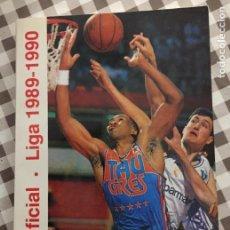 Coleccionismo deportivo: GUIA OFICIAL, LIGA ACB BALONCESTO 1989-1990. Lote 121293723