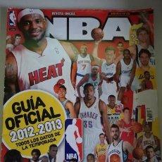 Coleccionismo deportivo: GUÍA NBA REVISTA OFICIAL TEMPORADA 2012/2013. Lote 121505027