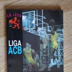 Coleccionismo deportivo: GUIA OFICIAL DE LA LIGA ACB C.B. ELOSUA LEÓN 1990-1991 TIBIDABO ASOCIACIÓN CLUBS BALONCESTO 1991. Lote 128143435