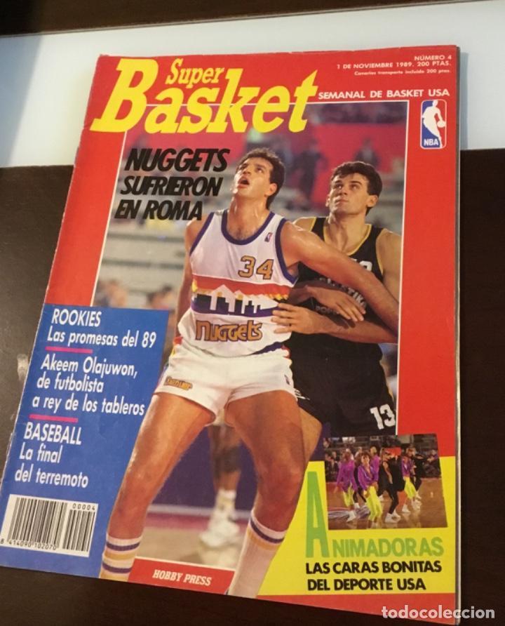 REVISTA SUPER BASKET NÚMERO CUATRO (Coleccionismo Deportivo - Libros de Baloncesto)