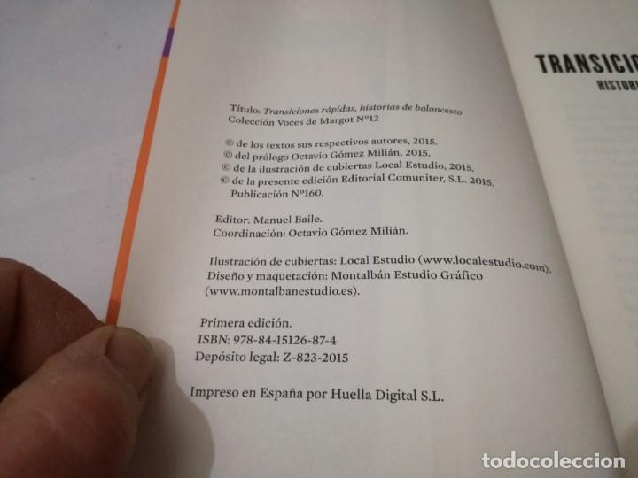 Coleccionismo deportivo: transiciones rapidas-historias de baloncesto-octavio gomez milianyo13deporte - Foto 5 - 131059320