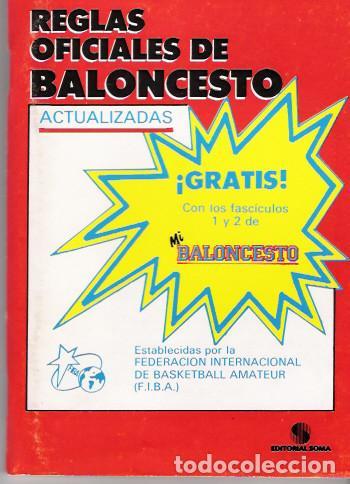 REGLAS OFICIALES DE BALONCESTO (Coleccionismo Deportivo - Libros de Baloncesto)