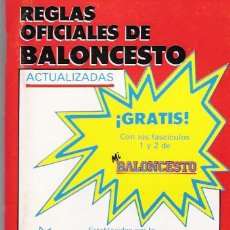 Coleccionismo deportivo: REGLAS OFICIALES DE BALONCESTO. Lote 138940326