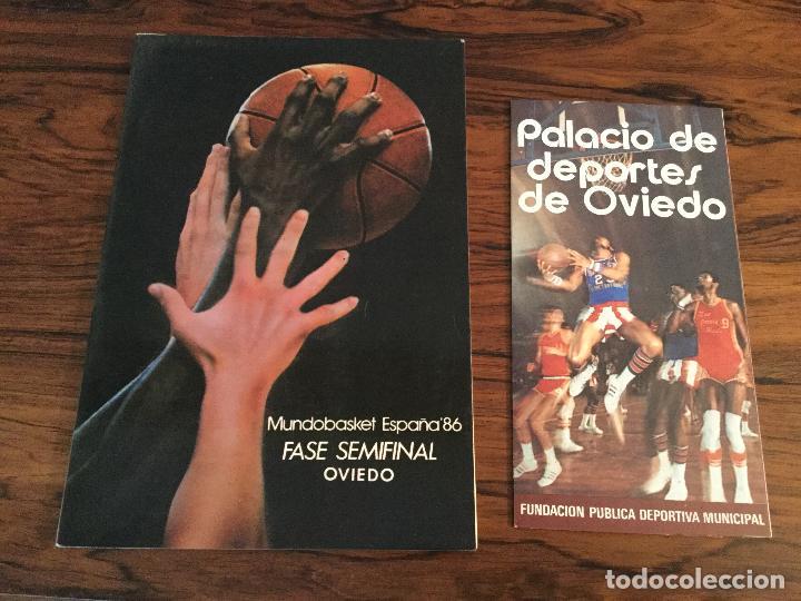 BALONCESTO MUNDOBASKET ESPAÑA-86 SEDE FASE FINAL OVIEDO (ASTURIAS) 1986.CATALOGO PALACIO DEPORTES. (Coleccionismo Deportivo - Libros de Baloncesto)