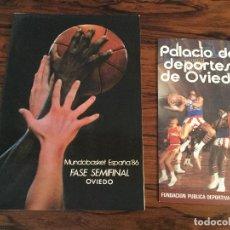 Collectionnisme sportif: BALONCESTO MUNDOBASKET ESPAÑA-86 SEDE FASE FINAL OVIEDO (ASTURIAS) 1986.CATALOGO PALACIO DEPORTES.. Lote 143869394