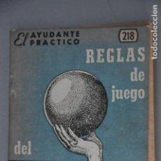 Coleccionismo deportivo: REGLAS DE JUEGO DEL BASKET BALL, VER TARIFAS ECONOMICAS ENVIOS. Lote 144534794