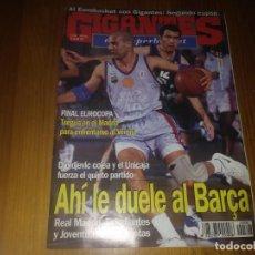 Coleccionismo deportivo: REVISTA DE GIGANTES DEL BASKET AÑO 1997 N° 598 BARÇA DJORDJEVIC UNICAJA POOL GETAFE LIGA FEMENINA. Lote 164789746