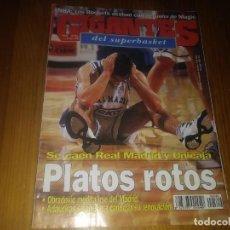 Coleccionismo deportivo: REVISTA DE GIGANTES DEL BASKET AÑO 1996 N° 549 REAL MADRID MALAGA JOVENTUT MURESAN LUGO MIJAIL FRAN. Lote 164791122